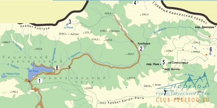 Карта-схема маршрута.